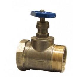 Вентиль (Клапан) D50-1 латунь прямоточный муфта/цапка
