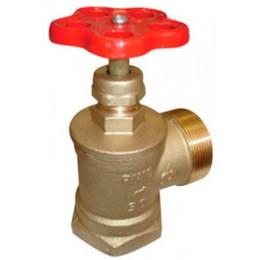 Вентиль (Клапан) D50-1 латунь угловой 90⁰ муфта/цапка