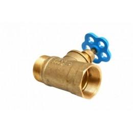 Вентиль (Клапан) D65-1 латунь прямоточный муфта/цапка